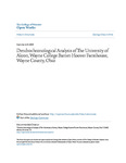 Dendrochronological Analysis of The University of Akron, Wayne College Barnet-Hoover Farmhouse, Wayne County, Ohio