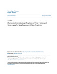 Dendrochronological Analysis of Five Historical Structures In Southwestern Ohio Franklin