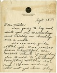 Letter from Mary to Mother- September 18, 1924