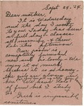 Letter from Mary to Mother- September 24, 1924