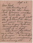 Letter from Mary to Father- September 28, 1924
