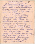 Letter from Mary to Family- Wednesday Nite Circa 1926