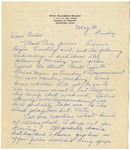 Letter from Mary to Parents- May 30, 1926