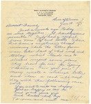 Letter from Mary to Family- January 10, 1926
