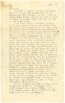 Letter from Mary to Father- January 18, circa 1925