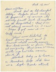 Letter from Mary to Mother- February 18, 1925