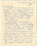 Letter from Mary to Family- Sunday Evening, circa 1926