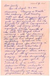 Letter from Mary to Family- March 4, 1925