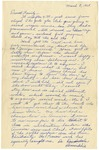 Letter from Mary to Family- March 8, 1925