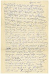 Letter from Mary to Family- April 12, 1925