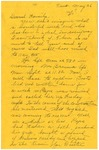 Letter from Mary to Family- May 26, 1925