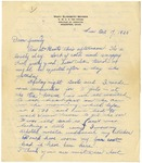 Letter from Mary to Family- October 17, 1925