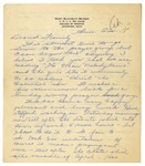 Letter from Mary to Family - Sun Eve circa 1926