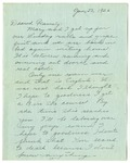 Letter from Mary to Family - January 23, 1926