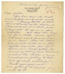 Letter from Mary to Folks - circa Spring 1926
