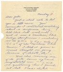 Letter from Mary to Folks - Monday Circa 1926