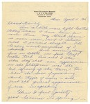 Letter from Mary to Family -  April 11, 1926