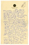 Letter from Mary to Mother & Father - Sunday Evening circa 1926