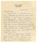 Letter from Mary to Folks - November 28, 1926