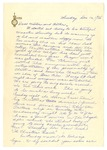 Letter from Mary to Mother and Father circa 1926
