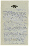 Letter from Mary to Family - Monday April 18, 1927 by Mary Behner