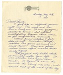 Letter from Mary to Family - Sunday May 15, 1927 by Mary Behner