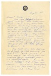 Letter from Mary to Folks - August 30, 1927 by Mary Behner