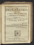 A Declaration of the Lords and Commons Assembled in Parliament, in Answer to the Kings Declaration Concerning Hvll. Die Mercurii, 25 Maii 1642