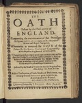 The Oath Taken by the Parliament of England, Concerning the Maintenance of the Protestant Religion, and the Advancement of His Majesties Honour and Regall Prerogative. Whereunto Is Annexed the Oath of the Dukes, Earles, Barons, Gentry and Commonalty of His Majesties Kingdome of Scotland