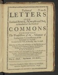 Packets of Letters from Scotland, Berwick, Newcastle and York, to Members of the House of Commons Concerning the Transactions of the Parliament of Scotland, the Commissioners of the Parliament of England. Num. 8. Brought by the Post, on Munday May 8. 1648